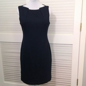 Elie Tahara Dark Blue Sheath Dress w Back Zipper